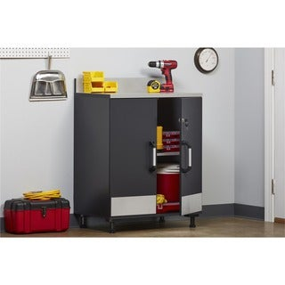 Altra SystemBuild Boss Steel Grey 2 Door Base Cabinet