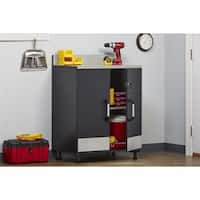 SystemBuild Boss Steel Grey 2-door Base Cabinet