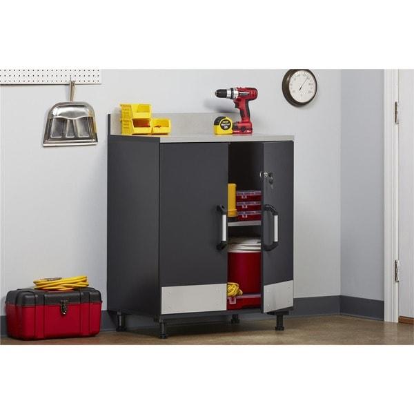 Systembuild Boss Steel Grey 2 Door Base Cabinet Free Shipping
