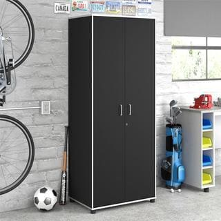 Altra SystemBuild Apollo Black Tall Cabinet