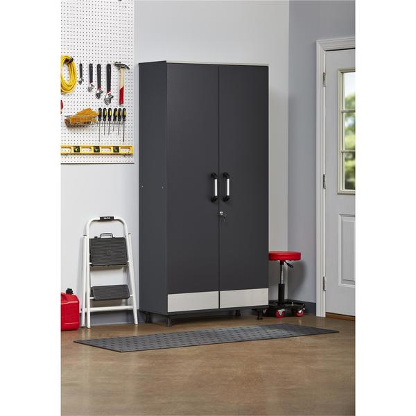 SystemBuild Boss Steel Grey Tall Storage Cabinet. Opens flyout.