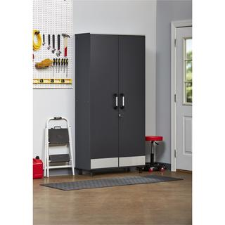 Altra SystemBuild Boss Steel Grey Tall Storage Cabinet