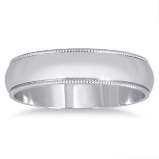 Marquee Jewels 14k White Gold Milgrain Edge Wedding Band|https://ak1.ostkcdn.com/images/products/12048289/P18917496.jpg?impolicy=medium