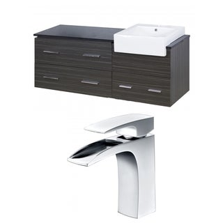 60-in. W x 20-in. D Plywood-Melamine Vanity Set In Dawn Grey With Single Hole CUPC Faucet