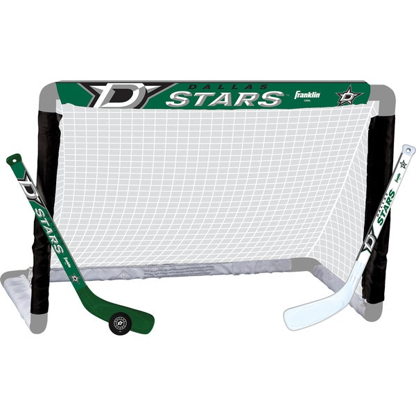 Franklin Sports NHL Dallas Stars Green, White ABS, Plastic Mini Hockey Set