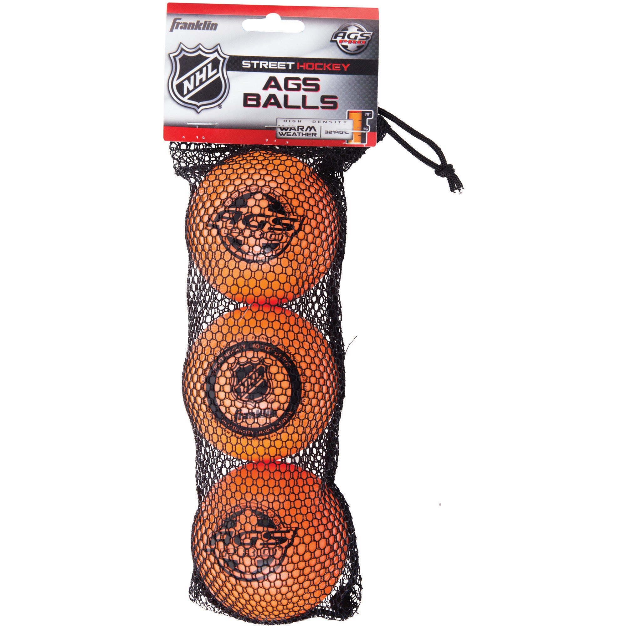 Franklin Sports NHL AGS Pro High-density Balls (Pack of 3...