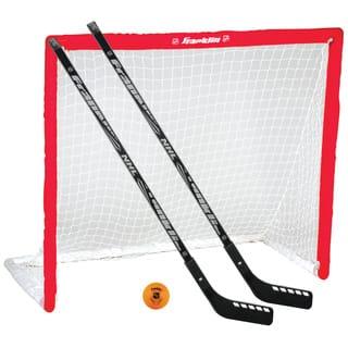 Franklin Sports NHL Goal/Stick/Ball Set|https://ak1.ostkcdn.com/images/products/12048552/P18917504.jpg?impolicy=medium