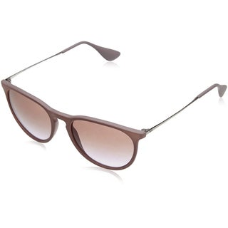 RayBan Women's 54MM Erika Wayfarer Sunglasses (Rubber Sand Frame/Brown Violet Gradient Lens)