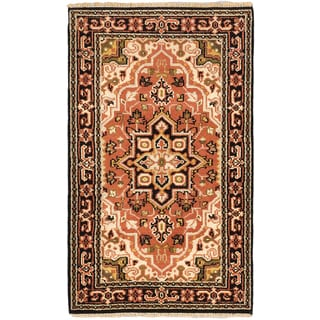 Ecarpetgallery Royal Heriz Brown/Black Cotton/Wool Hand-knotted Rug (3'0 x 5'1)