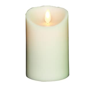 Torchier Vanilla-scented Ivory 3.5-inch x 5-inch Flameless Wax Pillar Candle