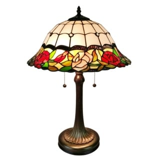Amora Lighting Tiffany Style AM229TL16 Floral Table Lamp