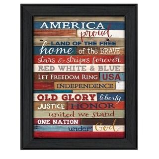 """America Proud"" by Marla Rae Printed Framed Wall Art"