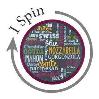 """Cheese Words 12"""""""" Plastic Lazy Susan"""