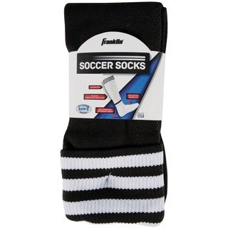 Franklin Sports ACD Black/White Polyester Size Small Soccer Socks
