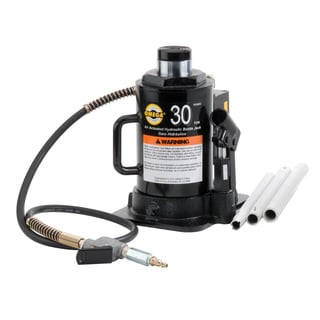 Omega 18302C 30-ton Hydraulic Air/Manual Bottle Jack