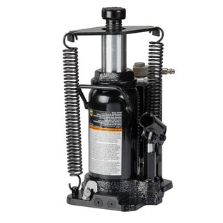 Omega 18126C 12-ton Hydraulic Air/Manual Bottle Jack with Return Springs