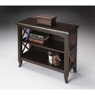 Butler Newport Black/Cherry Wood/MDF Low Bookcase