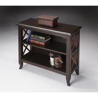 Handmade Butler Newport Black/Cherry Wood Low Bookcase (China)