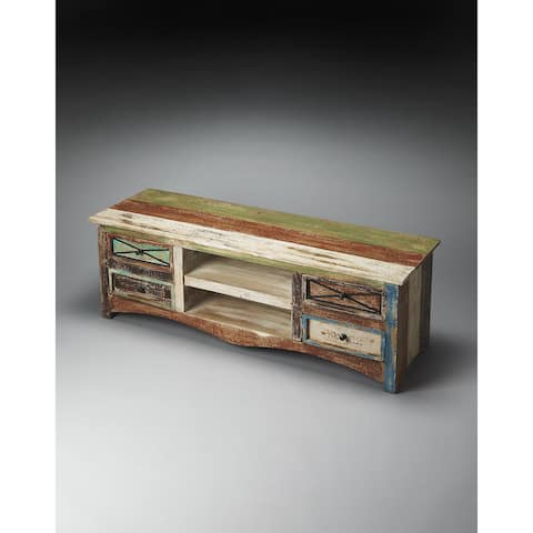 Handmade Butler Decatur Recycled Wood Entertainment Console (India)