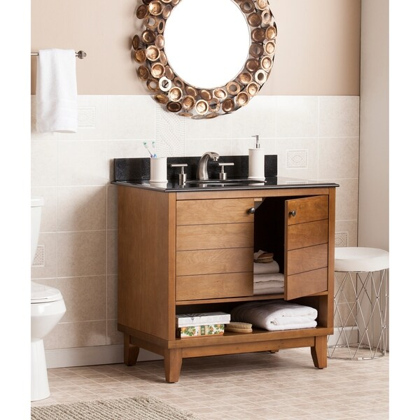 Shop Harper Blvd Ramon Granite Top 34-inch Bath Vanity ...