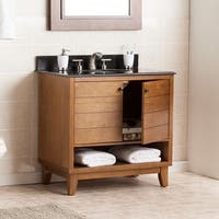 Harper Blvd Ramon Black Granite Top Bath Vanity Sink