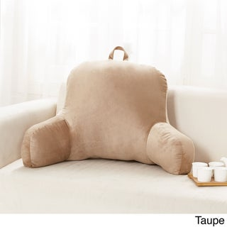 Sweet Home Collection Multicolored Polyester 20-inch x 31-inch x 14-inch Plush Bed Rest Pillow (Option: Taupe)