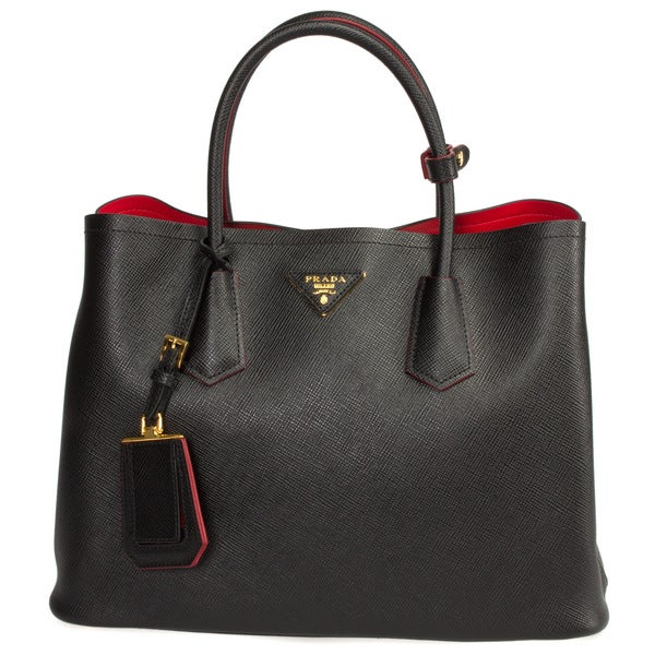 f1d84deba262 ... promo code for prada saffiano leather double shoulder handbag 146e7  b7b06