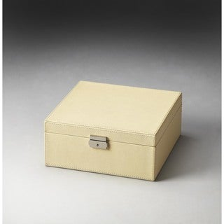 Butler Lido Cream Leather Storage Case
