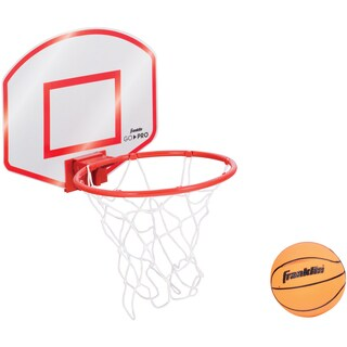 Franklin Sports Go-Pro White/Red Plastic Basketball Hoop Set