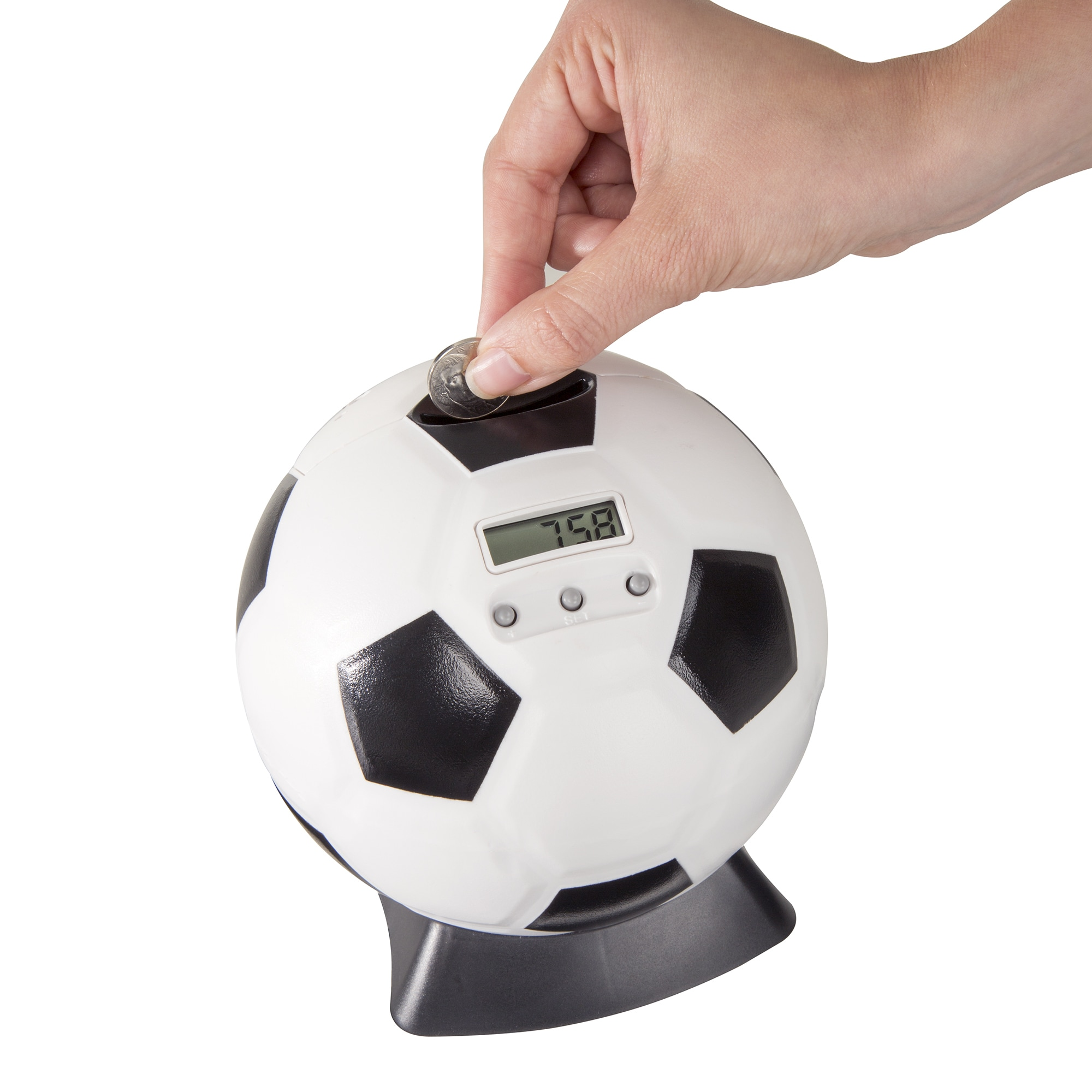Hey! Play! Hey! Play! Soccer Ball Digital Coin Counting B...