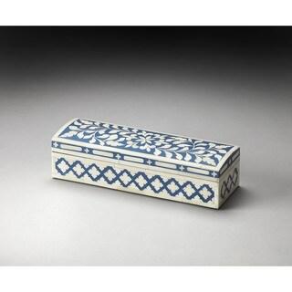 Butler Amanda Blue Bone Inlay Storage Box