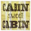 'Cabin Sweet Cabin' Wood Slatwall Wall Decor