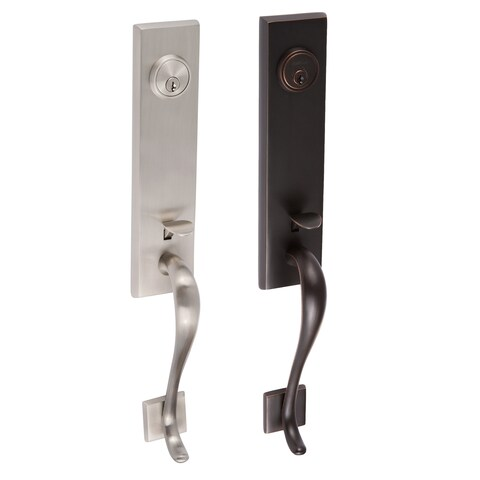 Sure-Loc Brass and Steel Solitude Front Entry Handleset