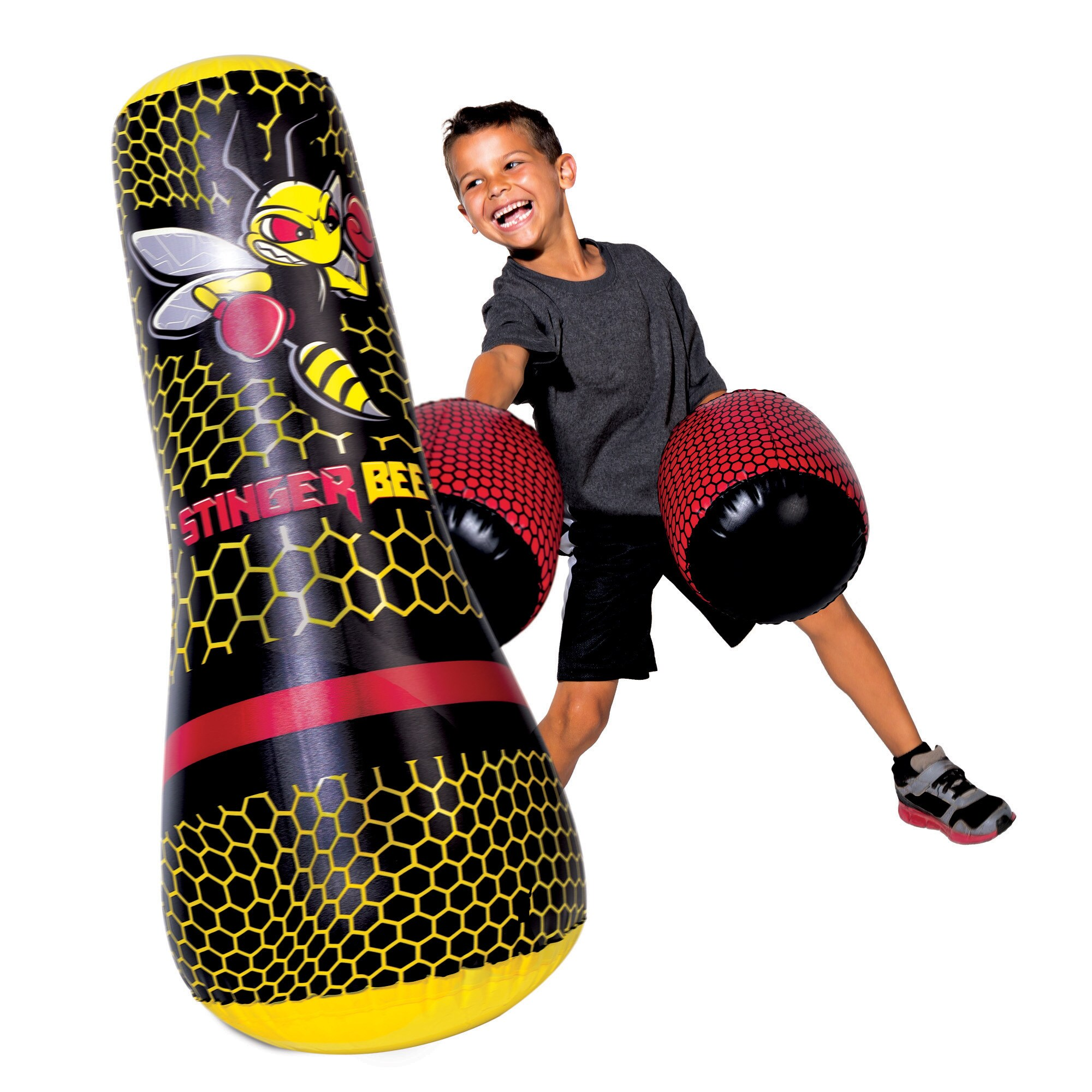 Franklin Sports Stringer Bee Multi-color Punching Bag and...