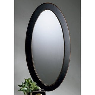 Butler Mozart Cafe Brown Wood Oval Wall Mirror