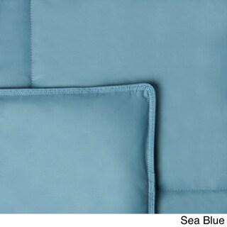 Hotel Madison Cotton Lightweight 15-inch Box Stitch Colored Down Comforter