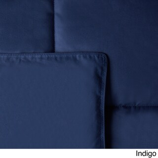 Hotel Madison Cotton Lightweight 15-inch Box Stitch Colored Down Comforter (More options available)