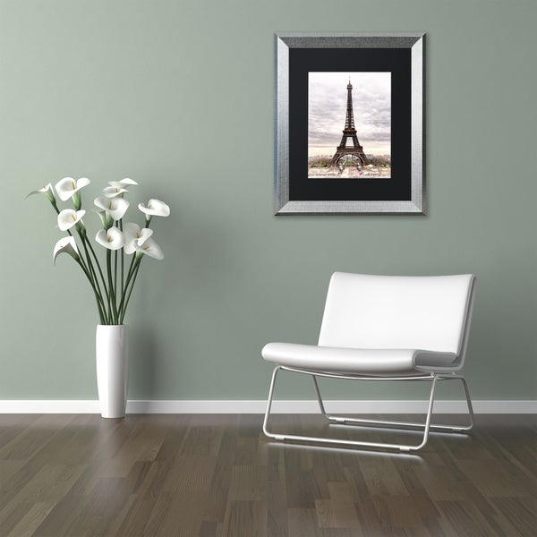 Philippe Hugonnard 'The Eiffel Tower' Matted Framed Art