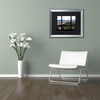 Philippe Hugonnard 'Central Park Window' Matted Framed Art
