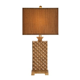 Catalina Brown Resin, Silk 3-way Table Lamp