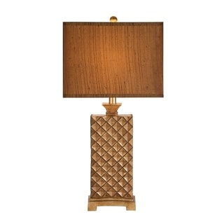 Catalina Marietta 19336-001 3-Way 33-1/2-Inch Decorative Burnished Bronze Table Lamp with Silken Shade, Bulb Included