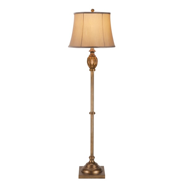 Catalina Wetherford 19339-001 62-Inch 3-Way Oil Rubbed Bronze Floor Lamp with Silken Shade, Bulb Included