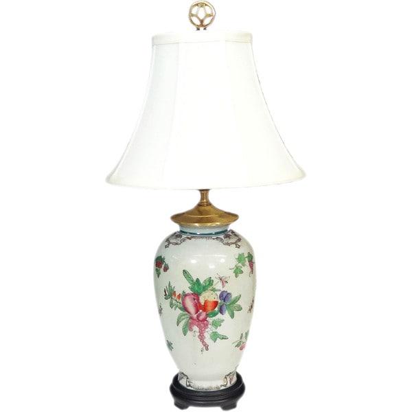 Fruit Bouquet Round Porcelain Lamp