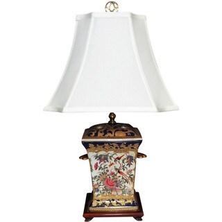 Royal Medallion Incense Holder Porcelain Lamp