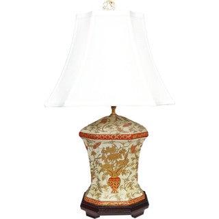 Duchess Vine Octagon Porcelain Vase Lamp