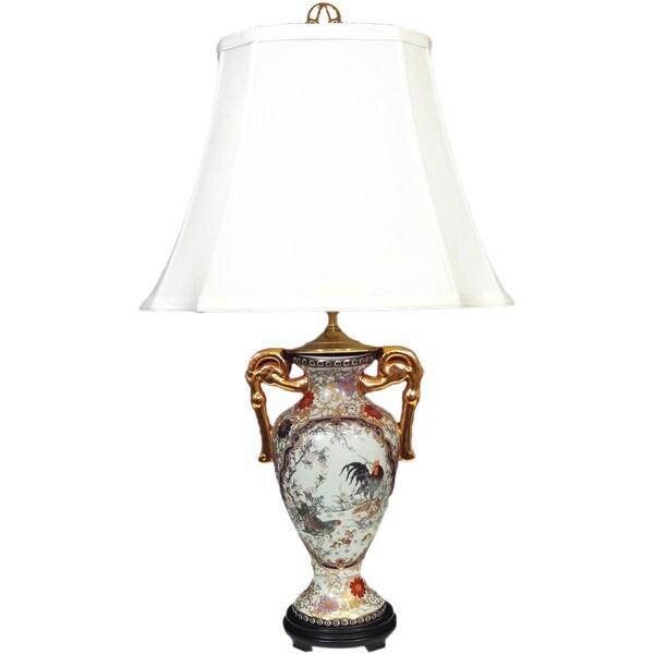 Catalina Multicolor Silk/Porcelain Garden Trophy Vase Lamp