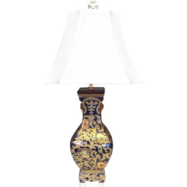 Royal Medallion Square Vase Porcelain Lamp