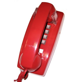 Cortelco Wall-mountable Valueline Basic Phone with Volume Control (Option: Red)