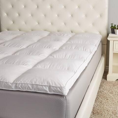 Hotel Madison Luxurious 2-Inch Gusset Baffle Box White Goose Featherbed