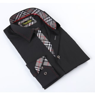 Banana Lemon Classic Black Button-up Dress Shirt